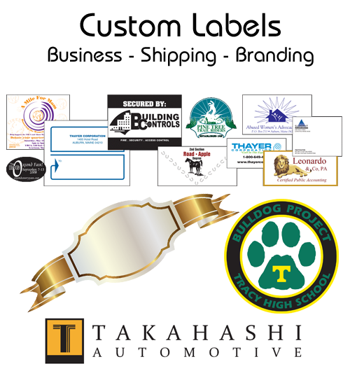 Automotive Custom Labels