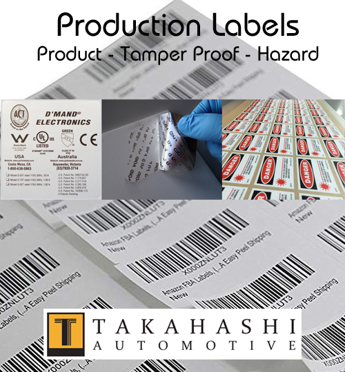 Automotive Production Labels