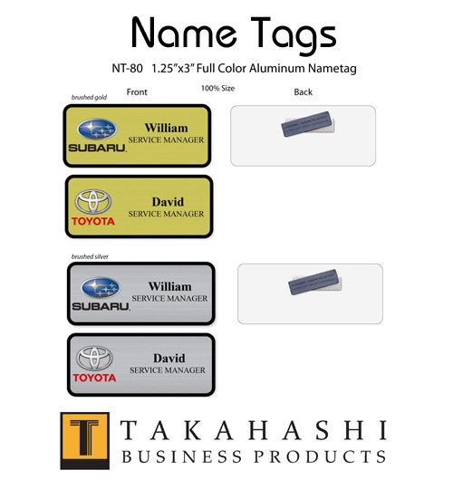 Business Name Tags