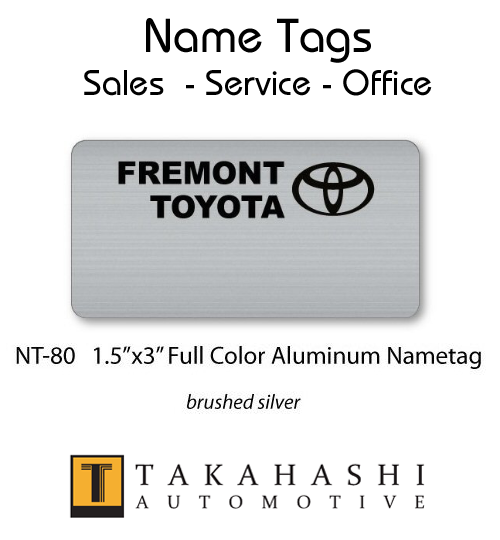 Dealership Name Tags