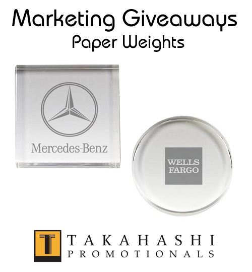 Marketing Giveaways Paper Weights